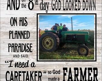 Custom Photo So God Made A Farmer By Paul Harvey Canvas Or Etsy