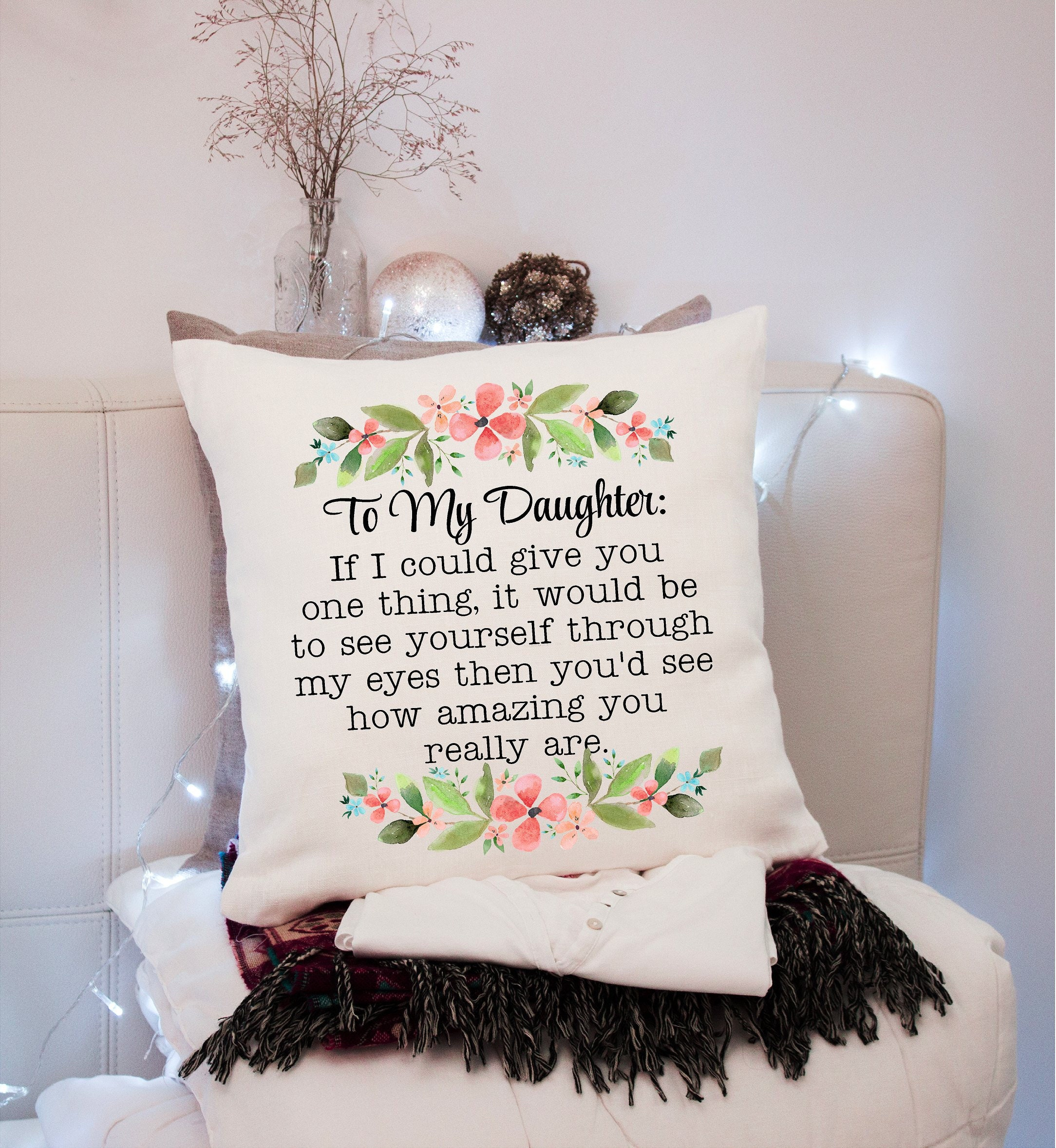 Daughter Inspirational Pillow Graduation Gift Class of 2019 Senior ...