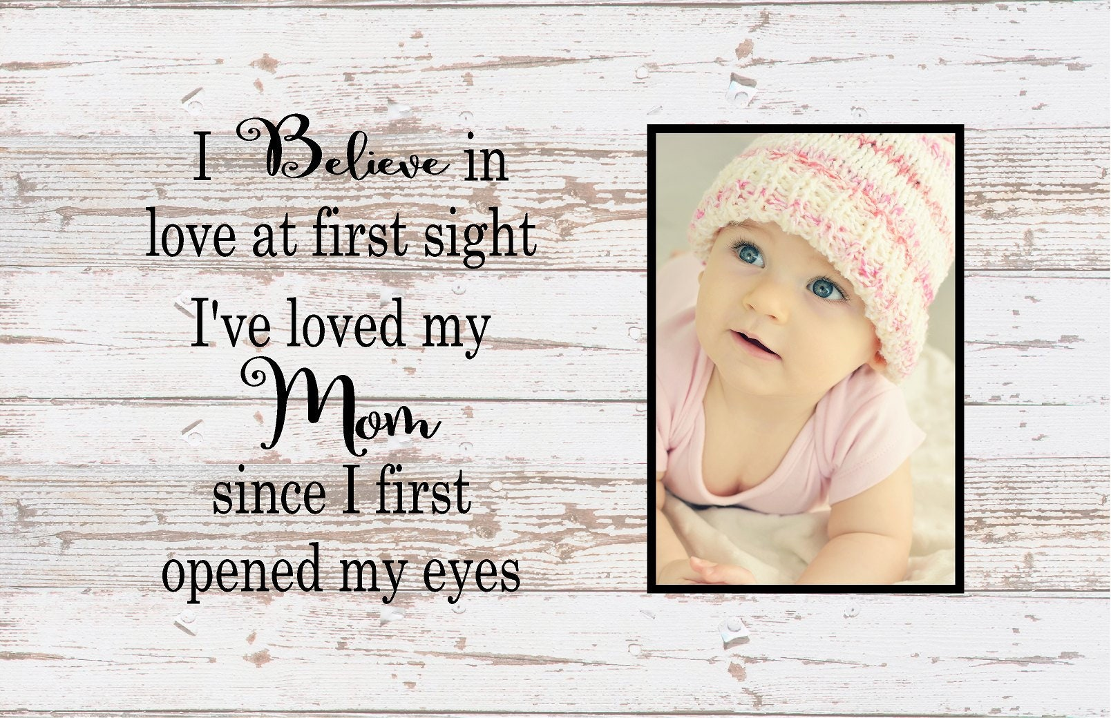 Mother\'s Day Gift I Believe in Love At First Sight Mom Photo Frame ...