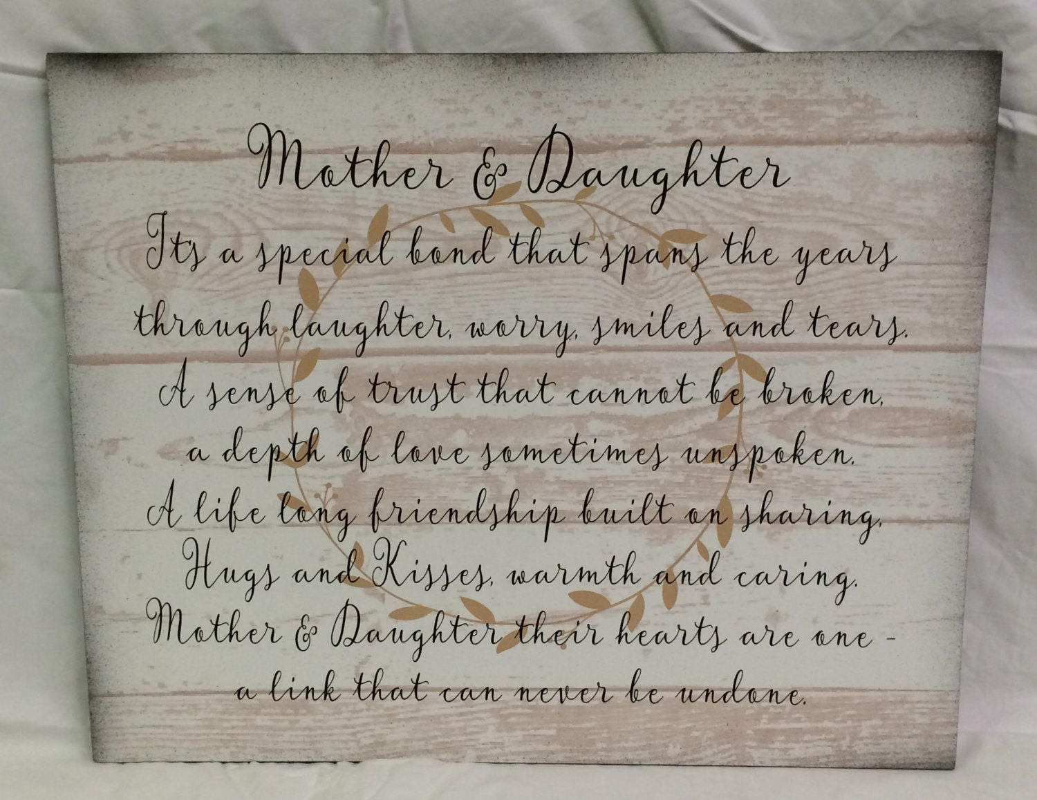 Christmas Gift Mothers Day Mother Daughter Wood Sign or Canvas Wall ...