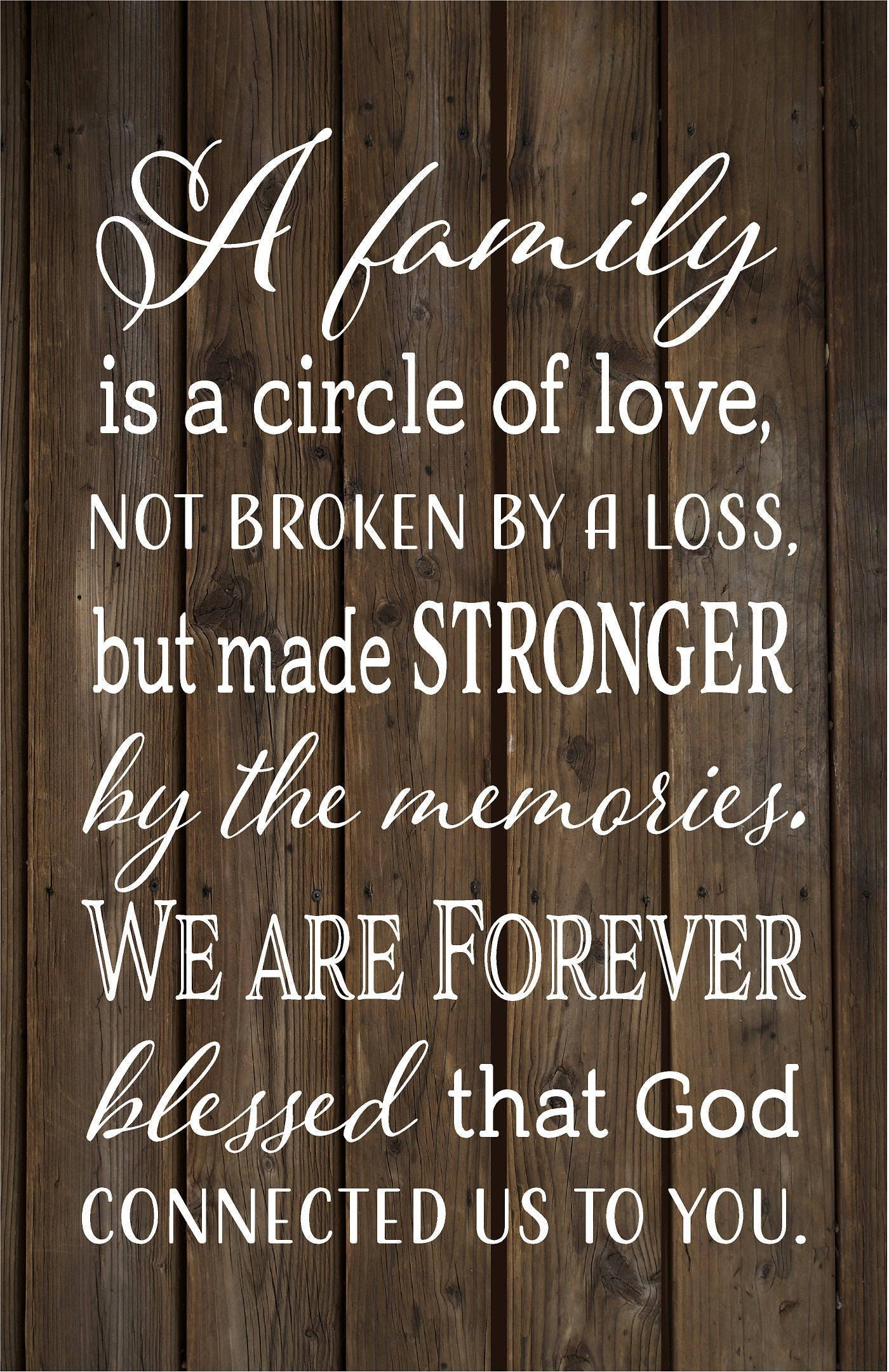 sympathy gift family forever blessed memories wood sign canvas wall