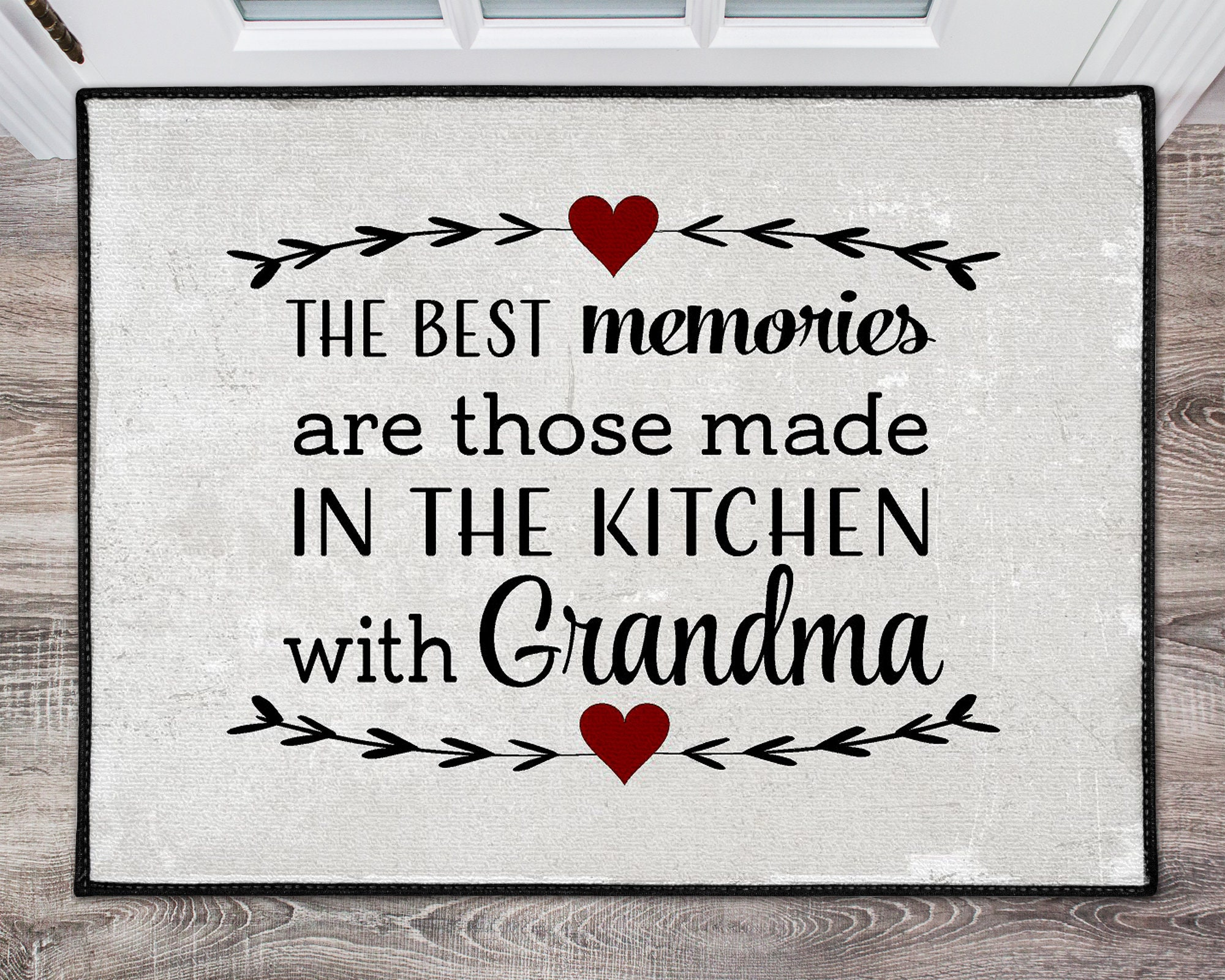 Best Memories Grandma Kitchen Rug Mat Rustic Rug Housewarming ...