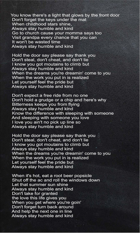 tim mcgraw back when lyrics