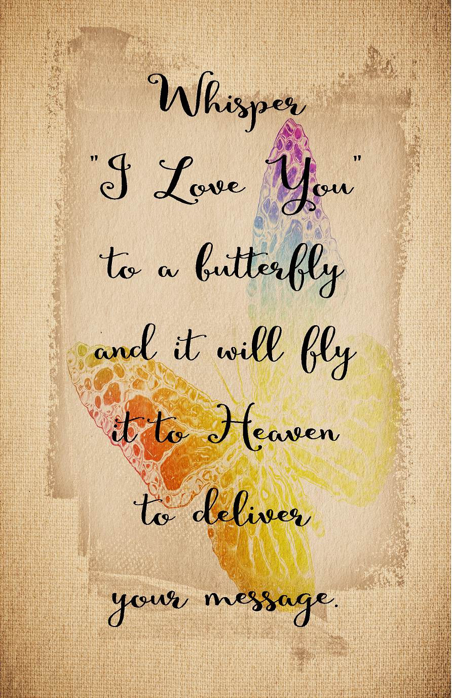 Sympathy Gift Whisper I Love You To A Butterfly Wood Sign Canvas ...