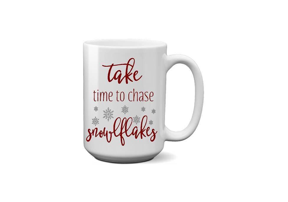 Take Time Snowflakes Coffee Mug Coworker Gift Christmas Gift Aunt ...