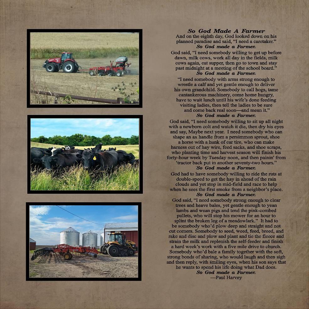So God Made A Farmer Paul Harvey Wood Sign Canvas Photo Clip