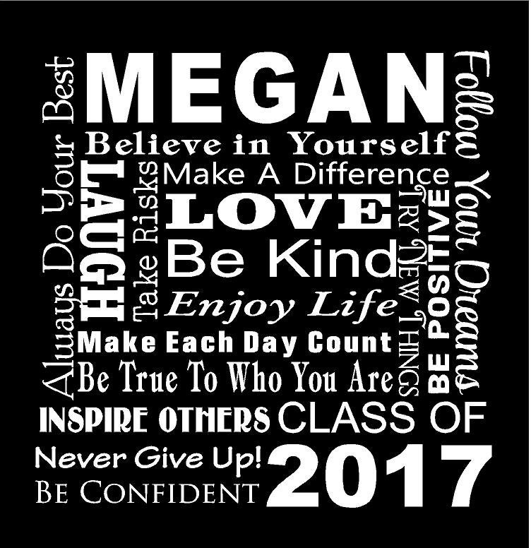 Class of 2019 Custom Name Collage Subway Art Canvas Wall Art Senior ...