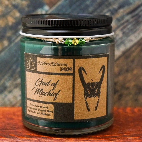 God of Mischief Loki Candle. FireFoxAlchemy POP!™ Candles