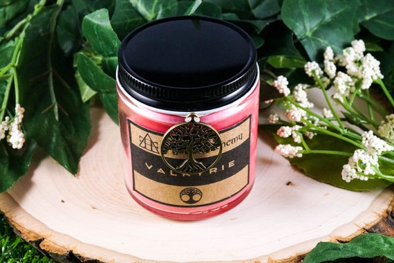 VALKYRIE Devotional Jar Candle for Freyja 4oz, Ritual Candle