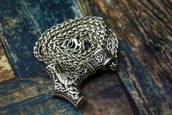 Thors Hammer Necklace, Mjolnir Necklace