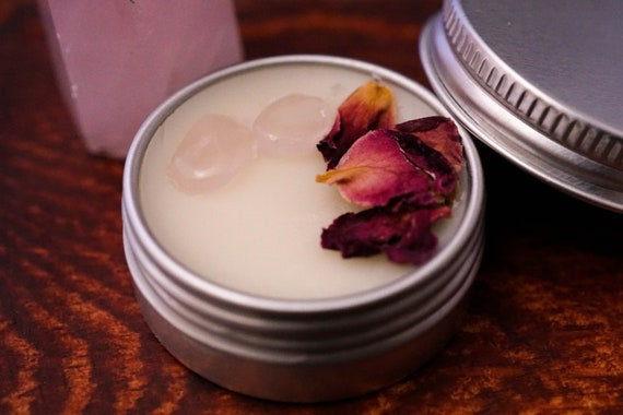 Vanilla and Rose Crystal Solid Perfume Cruelty Free
