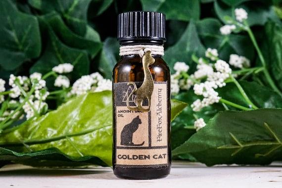 Golden Cat Oil: Ritual Oil for Abundance, Success, Endurance, Ritual Oil