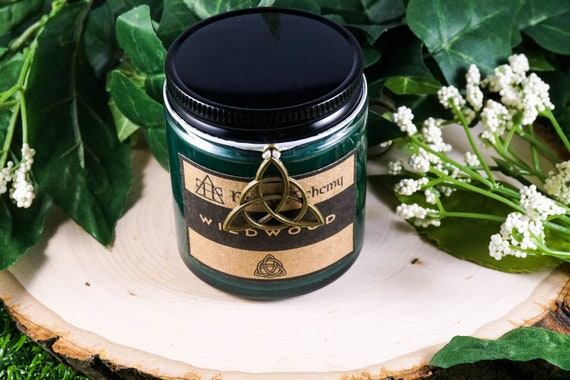 WILDWOOD Devotional Jar Candle for Cernunnos 4oz, Ritual Candle