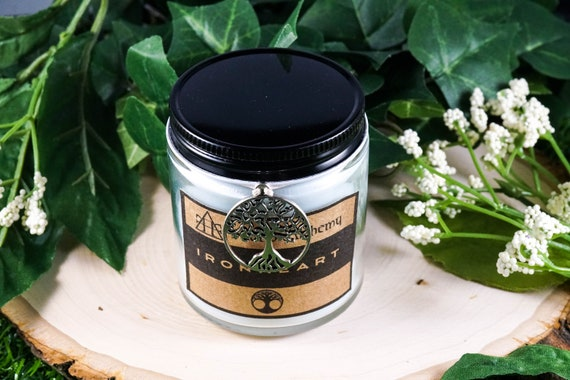 IRONHEART Devotional Jar Candle for Sigyn 4oz, ritual candle