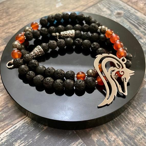 The Fire Wolf: Prayer Beads for Loki / OOAK Prayer Beads