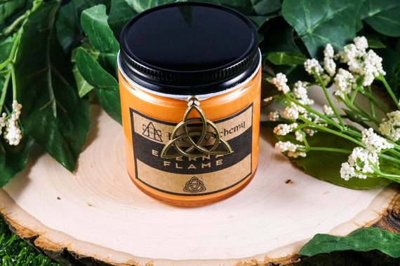 ETERNAL FLAME Devotional Candle for Brigid 4oz, goddess of fire and the forge