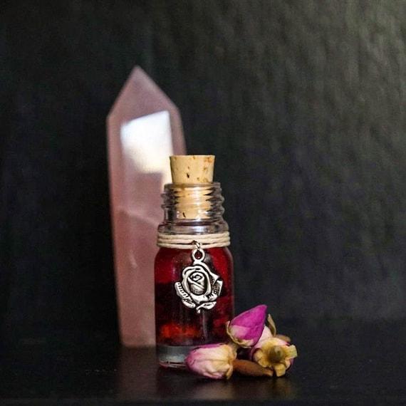 SHIMMERING ROSE™ Ritual Oil for Love, Passion, Goddess Work, Feminine Workings, Faerie Magic.