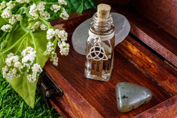 ETERNAL FLAME Ritual Oil for Brigid, Celtic Goddess Fire and The Forge
