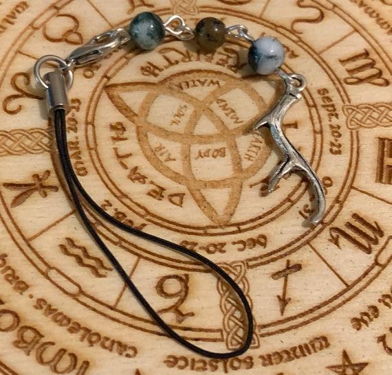 Cernunnos Devotional Bag/Phone Charm, Bag Charm, Purse Charm
