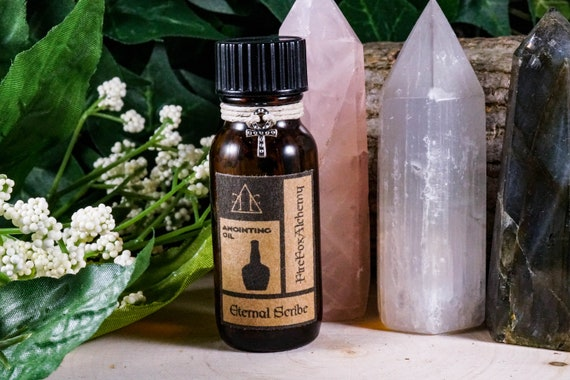 ETERNAL SCRIBE Ritual Oil for Thoth Egyptian God of Writing 1/2oz