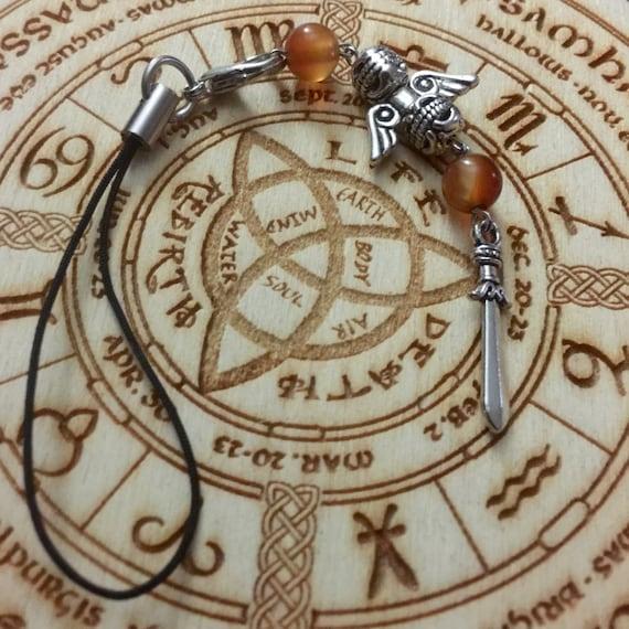 Sword of St. Michael Protection Bag/Phone Charm, protection charm