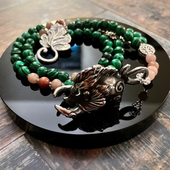 The Shining Boar: Prayer Beads for Freyr / OOAK Prayer Beads