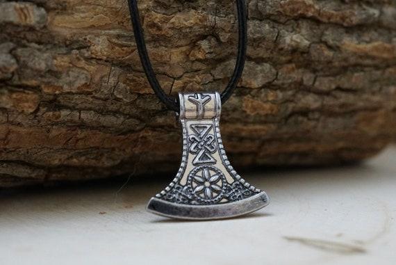 Norse Viking Axe Head Necklace