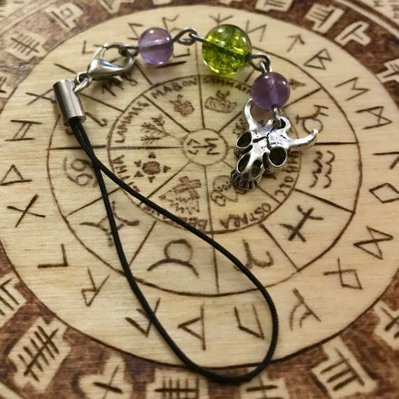 Dionysus Devotional Bag/Phone Charm, Greek God of The Vine