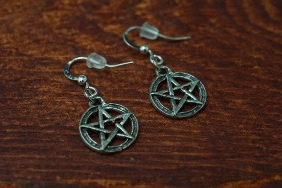 Small Pentagram Dangle Earrings