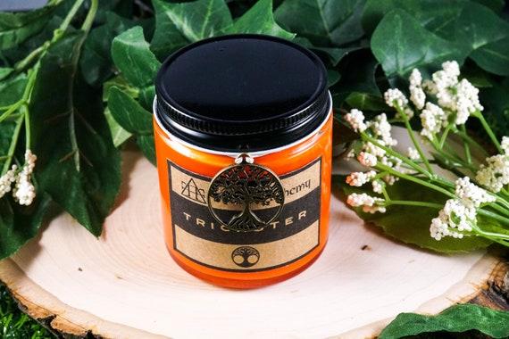 TRICKSTER Devotional Jar Candle for Loki 4oz God of Mischief
