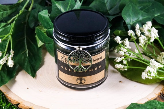 ALLFATHER Devotional Jar Candle for Odin 4oz, Ritual Candle