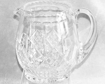 "Large Vintage Stuart Crystal Glengarry Pattern Crystal Cut Glass Jug pitcher 6"" Tall Signed c.1980's (ref: H150)"