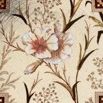 Antique Victorian Art Nouveau T G & F Booth Japanesque Floral Aesthetic Transfer Printed Decorative Tile c.1887