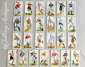 Vintage Players Footballers 1928 - 29 2nd Series 51 - 75 Full Set of 25 Cigarette Cards Loose Issued in 1929 (ref: 4009)