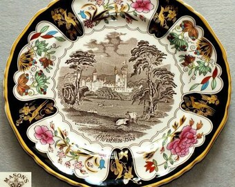 Vintage Mason's Ironstone Christmas Plates Series 1978 Balmoral Castle Decorative Cabinet collectors Plate (ref: 3200)
