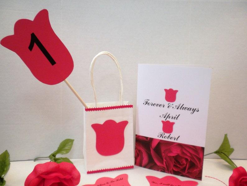 Handmade Invites Wedding Invitations Weddings Custom Invitations,Invites Red Rose Wedding Invitation-Wedding Invitations DIY Invitation