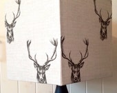 Country Stag Square Lampshade - 30cm