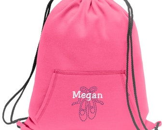 Personalized Crown Sackpack Bag Black all about me company Colorblock Cinch Bag
