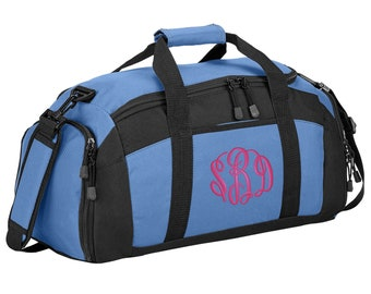 a79d9cb1e2 Personalized Monogram Name Gym Duffel Bag with FREE Personalization   FREE  SHIPPING BG970