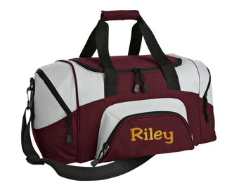 3f7bb4ba4d Personalized Monogram Name Small Sport Duffle Gym Bag with FREE  Personalization   FREE SHIPPING BG990S