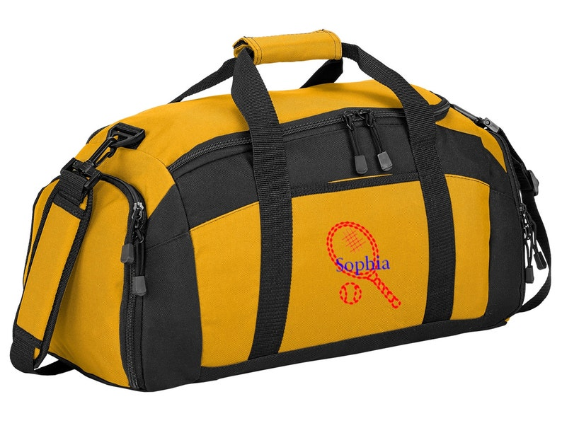 99be801abc Personalized Tennis Gym Sports Duffel Bag with FREE
