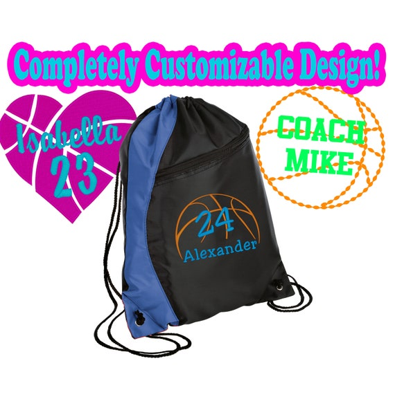 Royal//Black//Stone Personalized Soccer Gym Bag with Custom Text Heavy Duty Urban Backpack with Customizable Embroidered Monogram Design