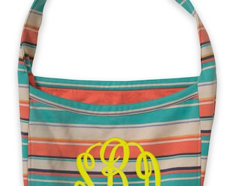 Pro-Weave Colorful Slouch Bag with Adjustable Knotted Straps and FREE Customization, Monogram MV16500 TS