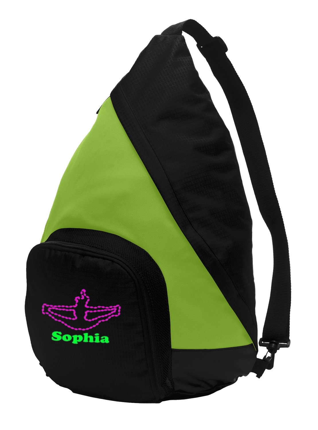 Lime Shock//Black Personalized Tennis Active Gym Duffel Bag with Custom Text Large Sports Bag with Customizable Embroidered Monogram Design