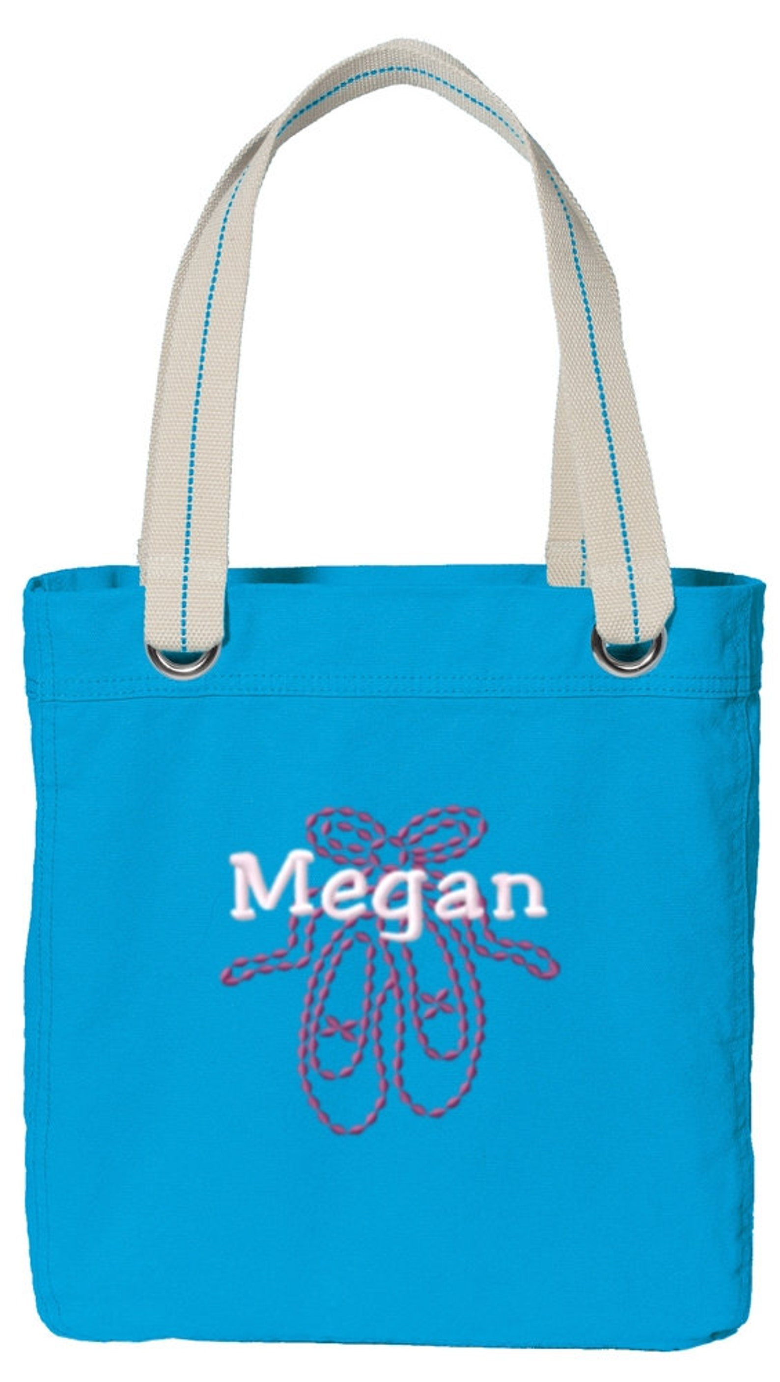 personalized ballet shoes canvas allie shoulder bag with free personalization & free shipping b118