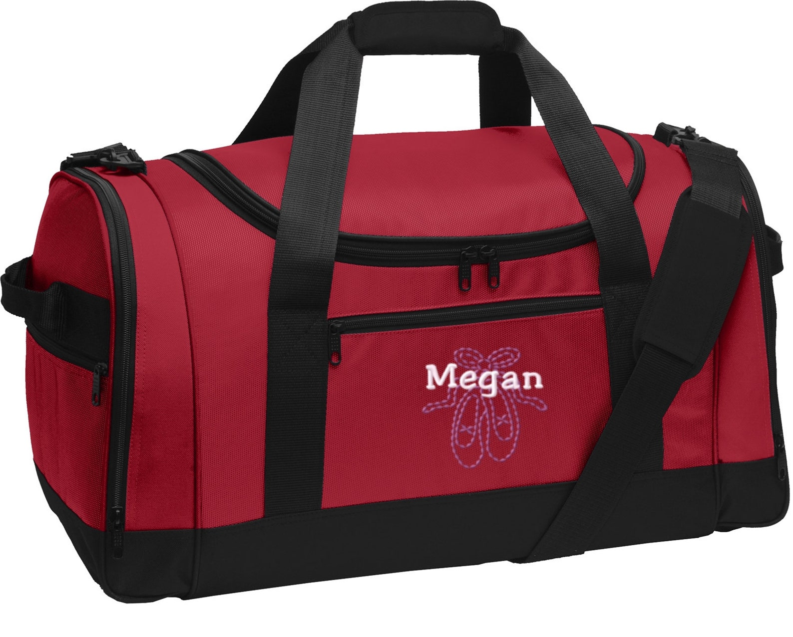 personalized ballet shoes voyager sports duffel bag with free personalization & free shipping bg800