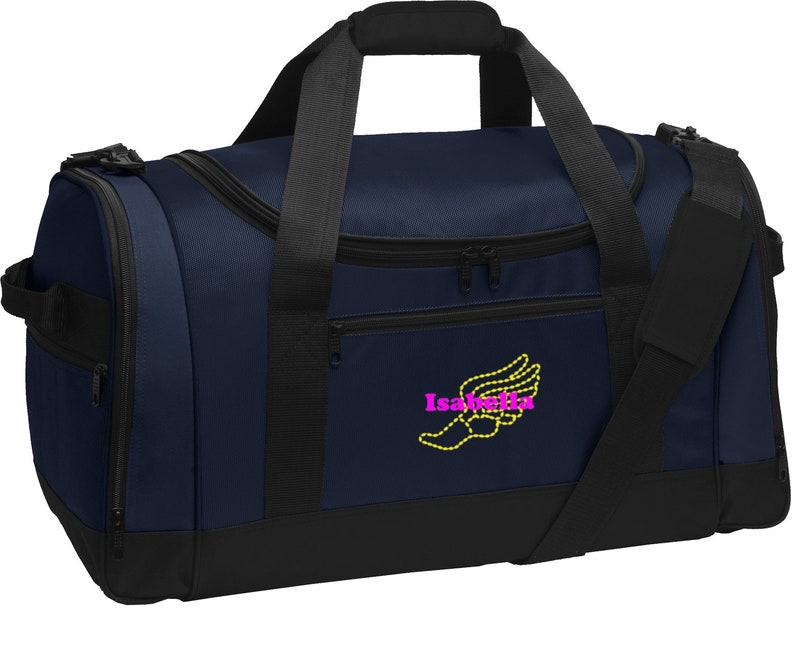 d9b15f381a Personalized Track and Field Voyager Sports Duffel Bag with