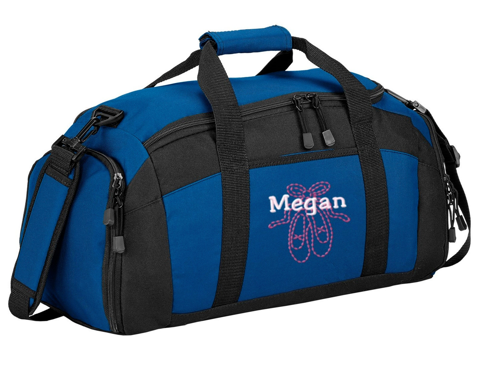 personalized ballet shoes gym duffel bag with free personalization & free shipping bg970