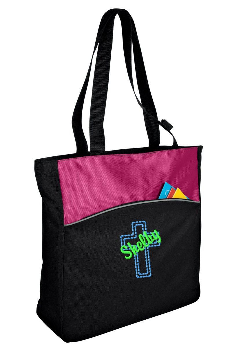 Personalized Cross Two-Tone Shoulder Bag with FREE Personalization /& FREE SHIPPING B1510