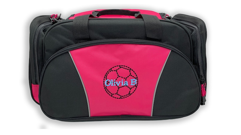 all about me company Personalized Hibiscus Flower Gym Sports Duffel Bag Red